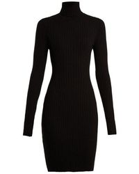 Wolford - Roll-neck Ribbed-knit Wool-blend Dress - Lyst