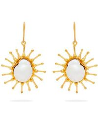 Sylvia Toledano - Sun Mother-of-pearl Baroque Drop Earrings - Lyst