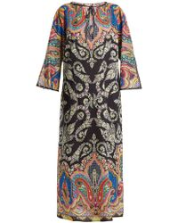 Etro - Paisley-print Tie-neck Cotton Kaftan - Lyst