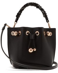 Sophia Webster - Romy Woven Handle Leather Bucket Bag - Lyst