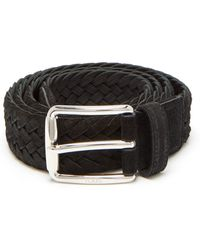 Tod's - Woven Suede Belt - Lyst