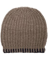 The Elder Statesman - Cable Knit Cashmere Beanie Hat - Lyst