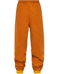 Y. Project - Double Layer Cotton Blend Track Trousers - Lyst