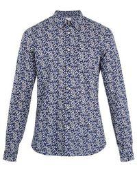 Paul Smith - Single-cuff Floral-print Cotton Shirt - Lyst