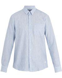 Vilebrequin - Caroubis Striped Linen And Cotton-blend Shirt - Lyst