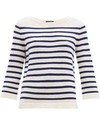 A.P.C. - Claudine Breton Striped Merino Sweater - Lyst