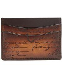 Berluti - Bambou Leather Cardholder - Lyst
