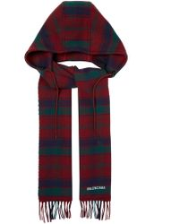 Balenciaga - Hooded Wool Scarf - Lyst