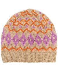 a77923fa75c Lyst - Acne Studios Pink Wool And Cashmere Beanie in Pink