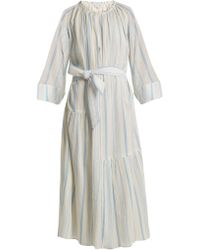 Apiece Apart - Stella Striped Cotton Dress - Lyst