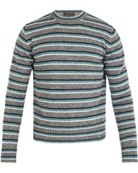 Prada - Striped Wool Jumper - Lyst