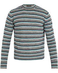 Prada - Striped Wool Jumper - Lyst