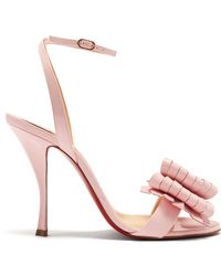 Christian Louboutin - Miss Valois 115 Patent-leather Sandals - Lyst