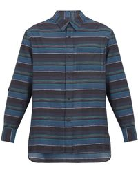 Lanvin - Patch-pocket Striped Cotton-blend Shirt - Lyst