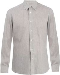 Brioni - Single-cuff Striped Linen Shirt - Lyst