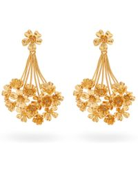 Oscar de la Renta - Geranium Drop Earrings - Lyst