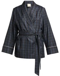 Morpho + Luna - Amelie Checked Wool Robe - Lyst