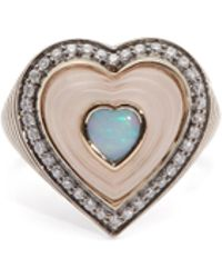 Noor Fares - Anahata 18kt Gold, Quartz & Diamond Ring - Lyst