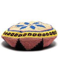 Etro Geometric Crochet Cotton Beret