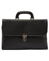 Ermenegildo Zegna - Pelle Tessuta Woven-leather Briefcase - Lyst