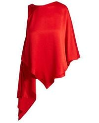 OSMAN - Auriene One-shoulder Layered Satin Top - Lyst