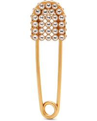 Burberry Pavé Crystal Kilt Pin Brooch