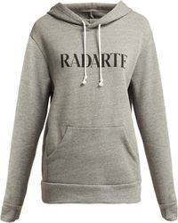 Rodarte - Radarte Cotton Blend Hooded Sweatshirt - Lyst