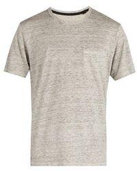 Rag & Bone - Owen Linen T-shirt - Lyst