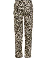 A.P.C. - Basse Leopard Print Straight Leg Jeans - Lyst