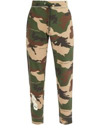 Off-White c/o Virgil Abloh - Camouflage And Logo Print Track Trousers - Lyst