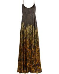 Adriana Iglesias - Brando Floral-print Stretch-silk Gown - Lyst