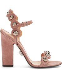 Samuele Failli - Lauren Stud-embellished Suede Sandals - Lyst