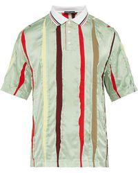 Y. Project - Striped Insert Silk Polo Shirt - Lyst