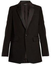 JOSEPH - Jan Single-breasted Contrast-trim Wool Blazer - Lyst
