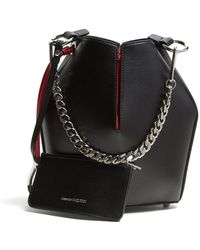 Alexander McQueen - Leather Bucket Bag - Lyst