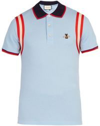 Gucci - Cotton Polo With Bee - Lyst