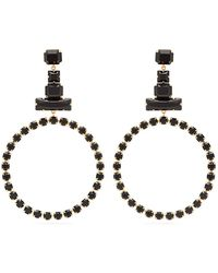Isabel Marant - Crystal Embellished Hoop Drop Earrings - Lyst
