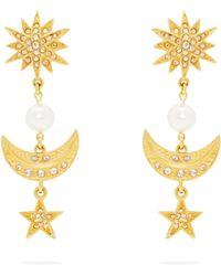 Oscar de la Renta - Moon And Stars Earrings - Lyst