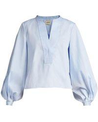 Khaite - Suzanna Cotton Poplin Shirt - Lyst