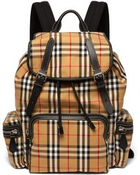 Burberry - Vintage Check Cotton-blend Backpack - Lyst