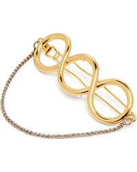 JW Anderson - Chain Trimmed Twisted Hair Clip - Lyst