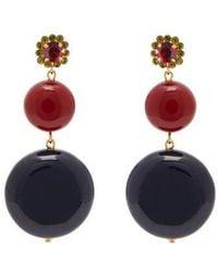 Marni - Circle-drop Crystal-embellished Earrings - Lyst