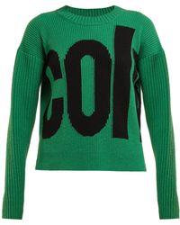 Colville - Logo Intarsia Wool Sweater - Lyst