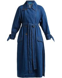 M.i.h Jeans - Audie Double Breasted Denim Trench Coat - Lyst