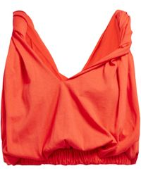 Marni - Twisted Cotton Cropped Top - Lyst