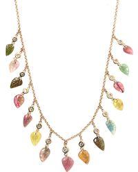 Jacquie Aiche Diamond, Tourmaline & Gold Necklace