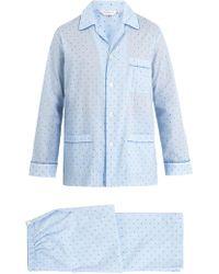 Derek Rose - Nelson Striped Cotton-batiste Pyjama Set - Lyst