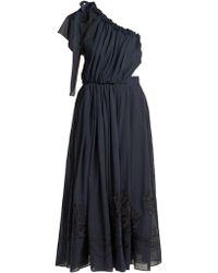 Fendi - Silk Appliqué Cotton Voile Dress - Lyst