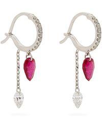 Raphaele Canot - Set Free Diamond, Ruby & White-gold Earrings - Lyst