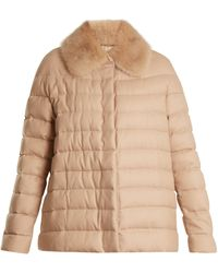 Moncler Gamme Rouge - Champlain Fur Trimmed Quilted Down Cashmere Jacket - Lyst